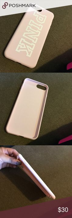 Iphone 7 plus vs PINK case Iphone 7 plus PINK case. Baby pink. New never used. All sales final. PINK Victoria's Secret Accessories Phone Cases