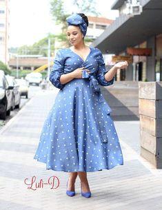 shweshwe dresses 2019 for black women - shweshwe dresses ShweShwe 1 South African Dresses, African Dresses For Women, African Print Dresses, African Fashion Dresses, Ghanaian Fashion, African Prints, African Women, Sotho Traditional Dresses, South African Traditional Dresses