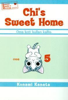 Chi´s sweet home (Konami, Kanata): hahmon ilmeet ja kuvakulmat. Kaikenikäisille sopiva mangasarjakuva kissasta, joka löytää uuden kotin Yamadan perheen luota. Pelkistetty, selkeä tyyli, jossa hahmon ilmeet ja asennot loistavat.