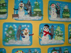 Tableau bonhomme de neige, avec photo!
