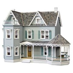 Real Good Toys Glenwood Dollhouse with Curved Stairs - Milled MDF Wall Finish