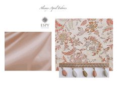 soft pink floral and satin for custom drapery or bedding