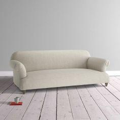 Soufflé sofa in Granite vintage linen