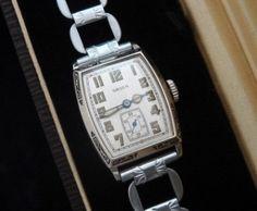 Men's 1929 Gruen Wristwatch with Box, Papers | Strickland Vintage Watches