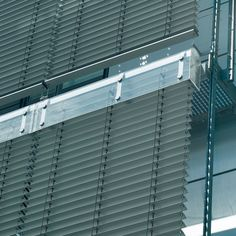 Metal blinds system to control daylight and glare for interior and exterior use. Blackout Shades, Shade Screen, Thermal Comfort, Custom Shades, Shades Blinds, Roller Shades, Window Dressings, Blinds For Windows, Aesthetic Design
