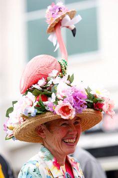 delightfully crazy Kentucky Derby hat - Yahoo! News