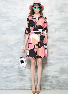 This unique geometric printed dress would be universally flattering on all kinds of body shapes! Just $31.39 Stay up to date on the latest fashion with Chicuu's newsletter and receive 30% off your first order!