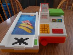 1988 Fisher Price Cash Register  / Grocery Toy Works