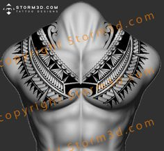 awesome-chestplate-tattoo-tribal-polynesia