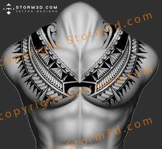 awesome-chestplate-tattoo-tribal-polynesia