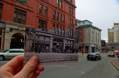 Amazing contrast between the past and the present...