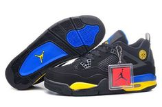 finest selection d9374 3308a Nike Air Jordan Iv 4 Retro Womens Shoes New Black Yellow Blue Gray Canada