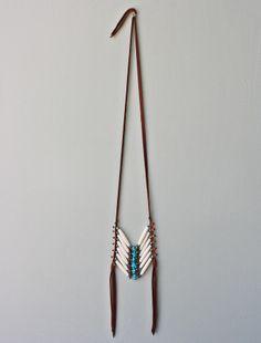 Native Rainbow Bone Breastplate Necklace #nativerainbow