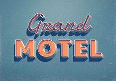 Hotel signs. Type your own text inside the smart object and create a striking typography piece with ease.