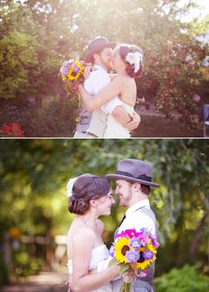 vintage chic - colorado wedding {LOVE LOVE LOVE the hat on the guy}