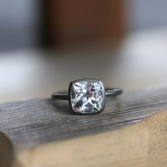 The coolest unique engagement rings come from this place!  I like the distressed finish of the metal