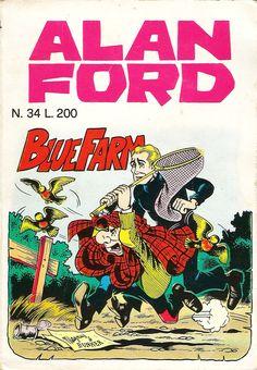 "Alan Ford n.34 ""Bluefarm"", di Magnus [Roberto Raviola], chine di Giovanni Romanini - aprile 1972"
