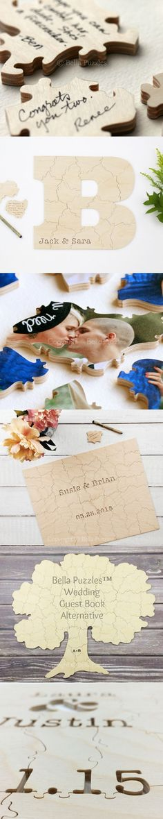 These custom-made wooden jigsaw puzzles are an amazing guest…