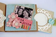 Tutorial for crafting a Paper lunch sack photo album.