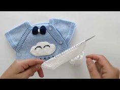 BULUT MODELİ VE PAPYON YAPILIŞI (Yandan düğmeli yelek için bulut modeli) - YouTube Baby Cardigan, Moda Crochet, Baby Knitting, Bandana, Knitwear, Baby Kids, Baby Shoes, Coin Purse, Sewing
