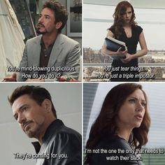 Oh yeah, Tony is definitely the one who really needs to be careful...