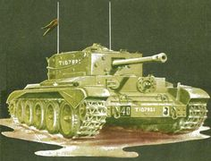 WWII British Cromwell Mk.VII Cruiser Tank Free Paper Model Download