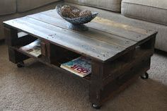 Table made from recycled pallets
