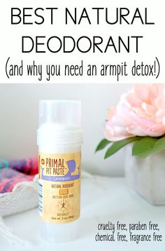 Best Natural Deodorant and Why You Need an Armpit Detox. Cruelty Free, Vegan, All Natural, Chemical Free Deodorant that actually works to neutralize odor.