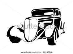 carros antigos silueta - Google Search