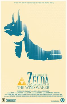 The Legend of Zelda - The Winder Waker. A movie-style poster