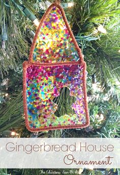 DIY Stained Glass Gingerbread Ornament for Christmas. A fun holiday craft idea for around the house this winter break.