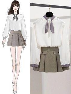 Bản Phác Hoạ draft - SeoulSugar Teen Fashion Outfits, Kpop Outfits, Cute Fashion, Fashion Models, Girl Fashion, Cute Casual Outfits, Girly Outfits, Stylish Outfits, Fashion Design Drawings