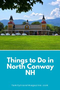 North Conway, New Hampshire is one of the best summer vacation destinations in the Northeast. Read about what to do in North Conway NH including where to stay, what to do, and restaurants. Best Summer Vacations, Best Vacation Spots, Vacation Destinations, North Conway New Hampshire, North Conway Nh, Stuff To Do, Things To Do, New England Travel, Things To Make