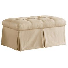 """Free Shipping when you buy Skyline Furniture Tufted Skirted Bedroom Storage Ottoman at Wayfair -  18"""" H x 36"""" W x 18.5"""" D"""