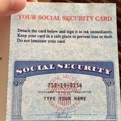 10 Social Security Card Ideas Social Security Card Card Template Id Card Template