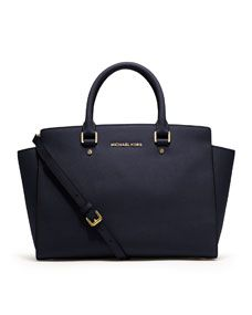 MICHAEL Michael Kors  Large Selma Top-Zip Satchel in Navy!!  It's Navy... The perfect fall color. Gotta have it.