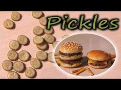 ▶ Polymer Clay tutorial; Pickle Cane - Miniature Food - YouTube