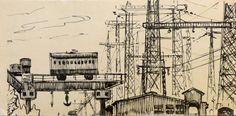 Industrial landscape - Mel'kov G. 1972