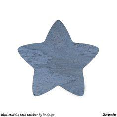 Blue Marble Star Sticker