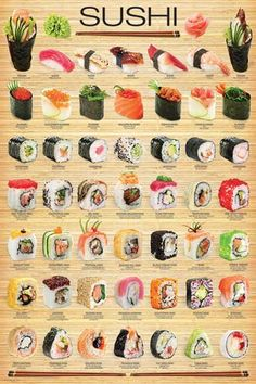 You don't have to go to a Japanese restaurant to enjoy a delectable assortment of sushi! Recipe included on the back of the box. Crispy Oven Fries, Crispy Oven Fried Chicken, Fries In The Oven, Seared Salmon Recipes, Pan Seared Salmon, Tempura, Dessert Chef, Sushi Roll Recipes, Salad Recipes
