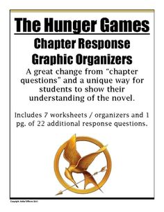 """The Hunger Games"" Graphic Organizers / Chapter Response"