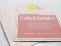 Love this pink lemonade party invitation! #invitation #lemonade