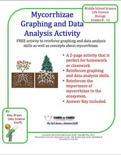 FREE.   In this activity, students are given information about plants that are grown with and without the assistance of mycorrhizae. Quantitative data is given. Students graph the data and answer 8 data analysis questions.