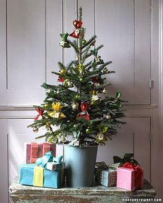 Small christmas tree. I want to put small Christmas trees all over the house this year!