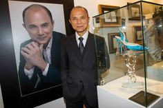 The man himself, #ProfessorJimmyChoo. Find out more about the exhibition on the CQ blog http://www.claremontquarter.com.au/blog/features/exhibition-the-story-of-professor-jimmy-choo-obe#.U-SP34CSymQ #ProfessorJimmyChooAtCQ #JimmyChooCouture