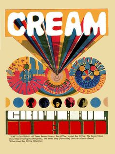 Cream and the Grateful Dead - 1968 Sacramento concert poster