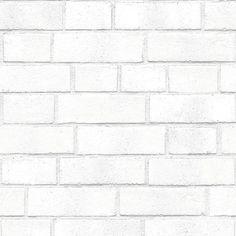 Brick Temporary Wallpaper - White