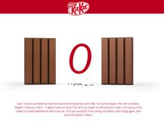 Discover the 404 page of KITKAT on 404 not found. This page has the The most shared badge 404 Pages, Error Page, Not Found, Ui Ux Design, User Experience, Badge, Promotion, Google Search, Inspiration