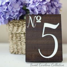 Wedding Table Numbers, Wooden Table Numbers Wedding - Set of 12 on Etsy, $54.00