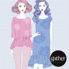 The Azaire Top & Dress, Gather Patterns